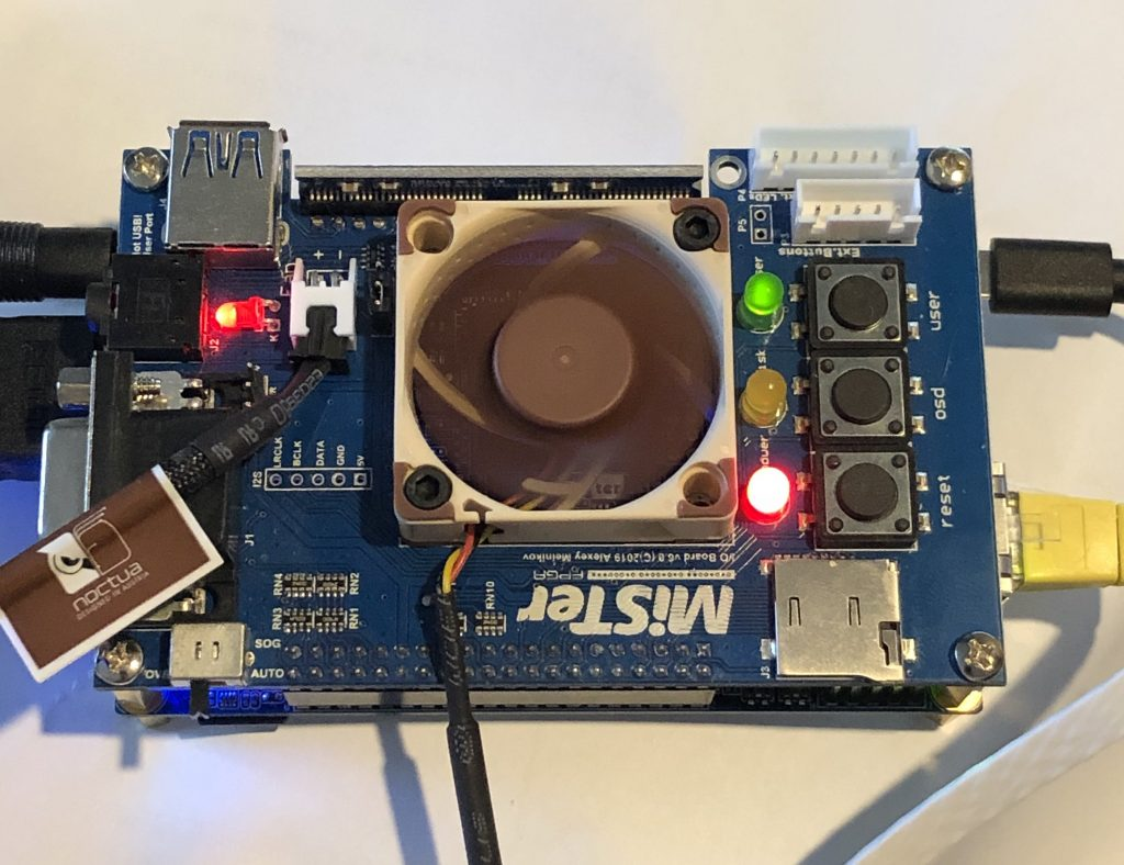 mister FPGA running