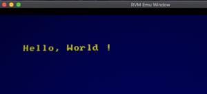 RVM Amstrad emulator running z88dk C code