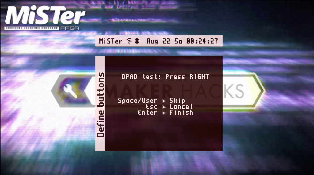 Setting up a controller in mister FPGA