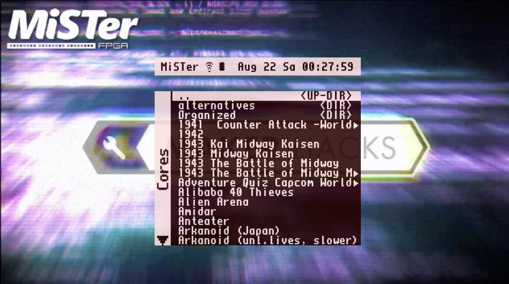 mister FPGA game selection