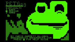 PETFrog, new Commodore PET game from Chris Garrett
