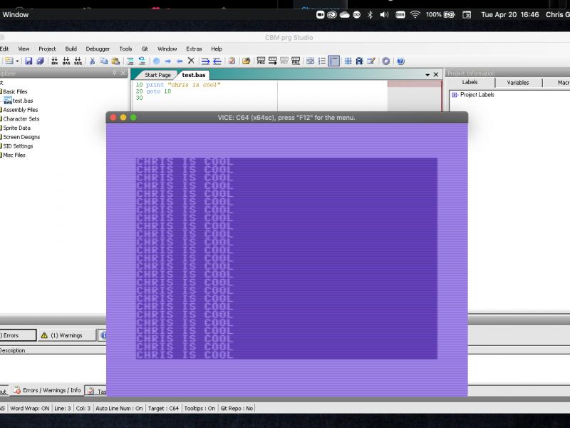 CBM PRG Studio on Mac
