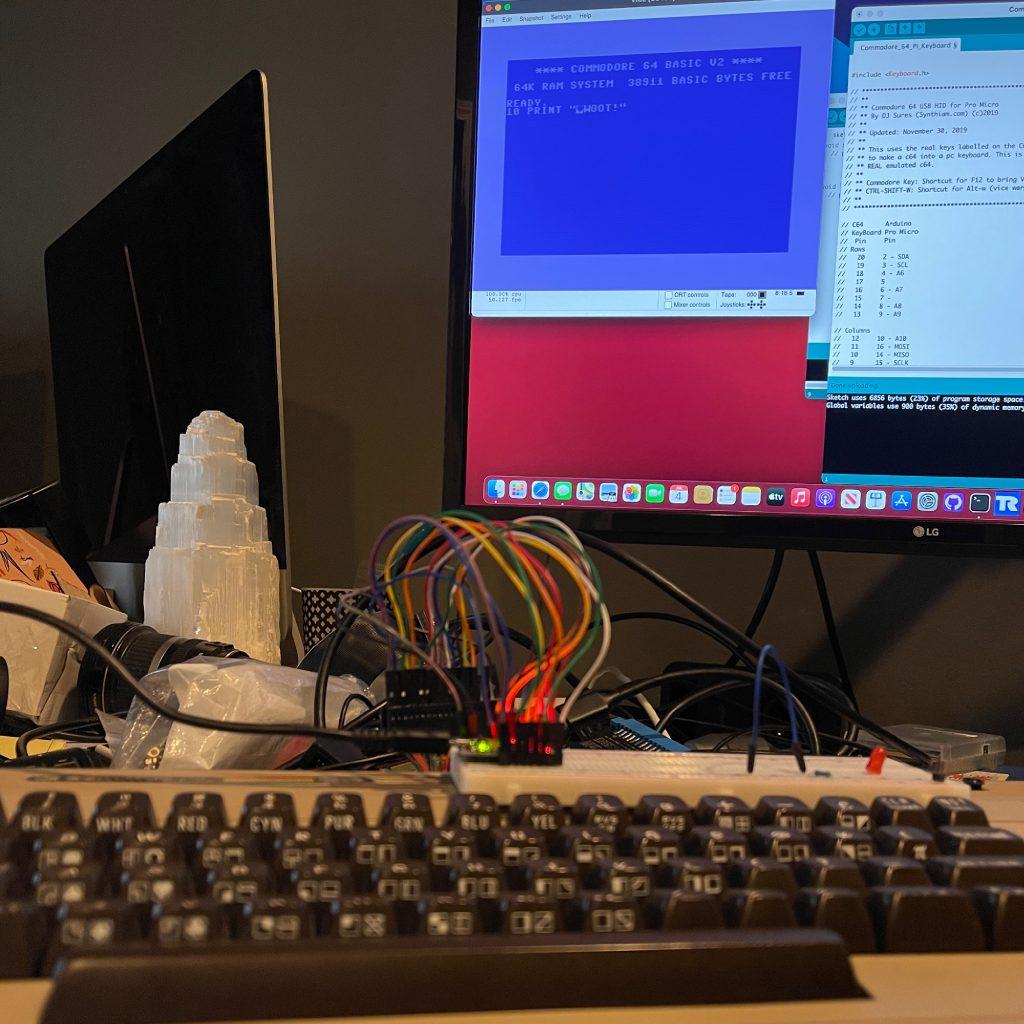 Real C64 Keyboard with Vice C64 Emulator on Mac