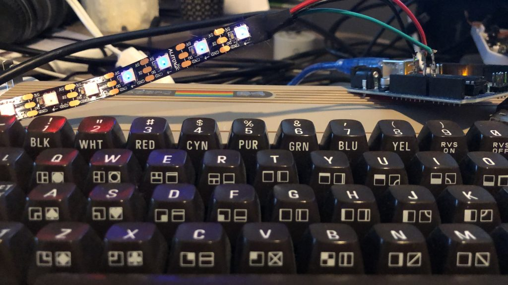 C64 Controlling a Strip of Individually addressable RGB LED
