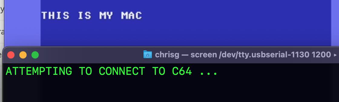 C64->Arduino->Mac