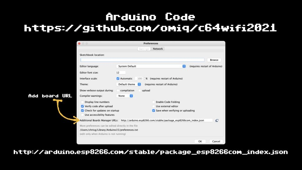 Configure your Arduino IDE with the ESP8266 Board definitions